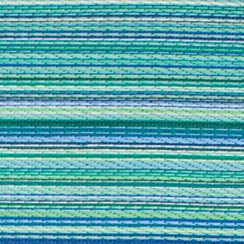 Fab Habitat Cancun Indoor/Outdoor Rug,Turquoise & Moss Green, (4 x 6)