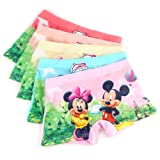 2-8 Years Old Girls Mickey And Minnie Mouse Boyshorts Underwear Dress Shorts 5 Multipack