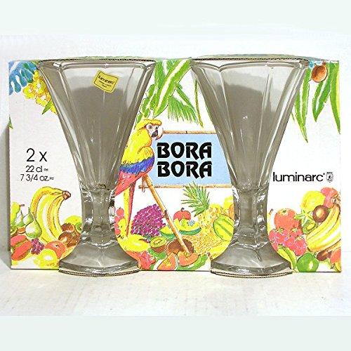 ARC - Flûtes à Glaces x 2 verre blanc BORA BORA *
