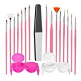 Nail Art Tools Brushes Drawing Paint Drill Point Pen Gel Nail File Coloring Cup