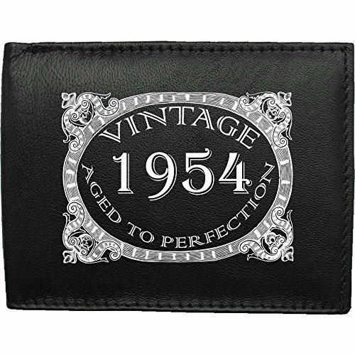 1954-millsime-mri-g--la-perfection-Portefeuille-Pour-Hommes-En-Cuir-Noir-cuir-velours-cadeau-prsent-humour-plaisanterie-blague-plaisanterie-drle-humoristique