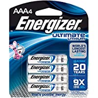 4-Pack Energizer Ultimate Lithium AAA Batteries