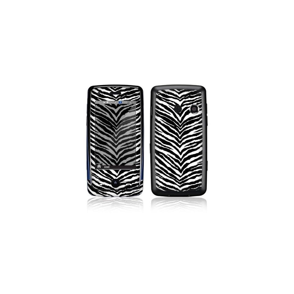 Black Zebra Skin Decorative Skin Cover Decal Sticker for LG Rumor Touch LN510 Cell Phone