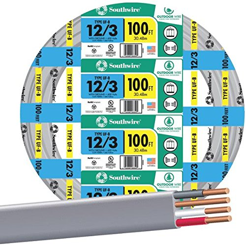 Southwire Company 13058323 12/3Wg Uf Wire 100-Foot