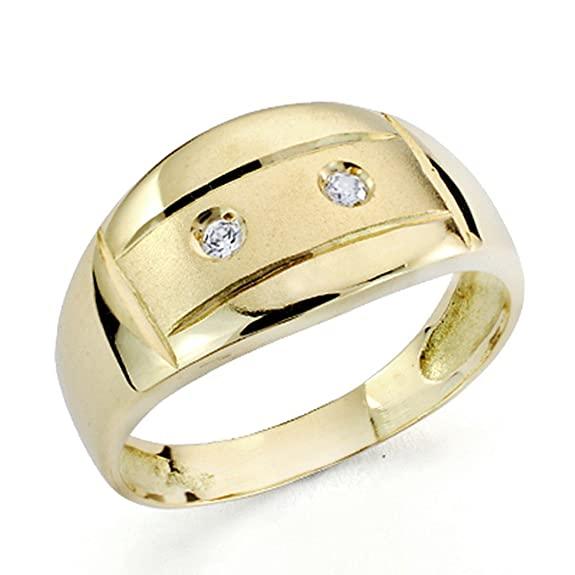 18k gold cubic zirconia ring [7430]