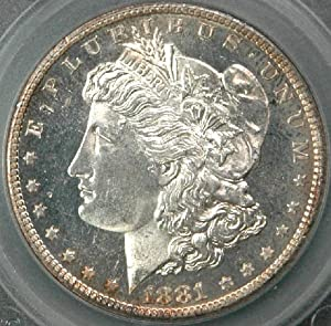 1881-S Morgan Silver Dollar Graded MS66 Deep Mirror Proof Like by SEGS