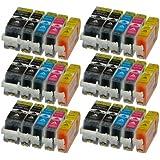 30 Patronen MIT CHIP und Füllstandanzeige für Canon Pixma iP4850 , MG5150 , MG5250 , MG6150 , MG8150 kompatibel zu PGI-525BK , CLI-526C , CLI-526M , CLI-526Y und CLI-526BK.