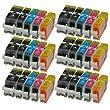 30 Patronen MIT CHIP und F�llstandanzeige f�r Canon Pixma iP4850 , MG5150 , MG5250 , MG6150 , MG8150 kompatibel zu PGI-525BK , CLI-526C , CLI-526M , CLI-526Y und CLI-526BK.