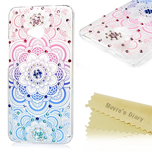 htc-one-m7-case-maviss-diary-3d-handmade-bling-crystal-diamond-colorful-totem-flower-shiny-sparkle-r