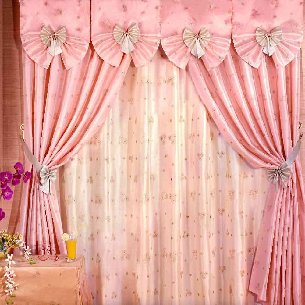 Pink Curtain 10' x 10' CP Backdrop Computer Printed Scenic Background