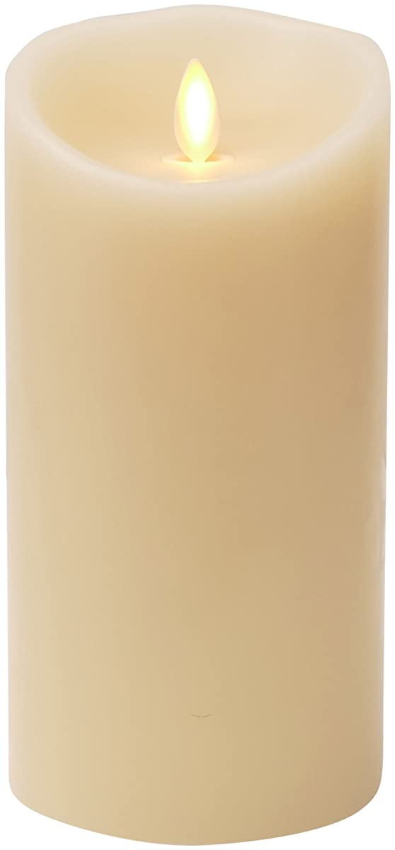 "Luminara Flameless Candle: Vanilla Scented Moving Flame Candle with Timer (7"" Ivory)"