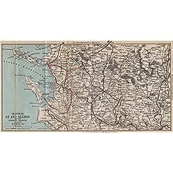 Île de Ré & Île d'Oléron. Cognac. La Rochelle. Charente-Maritime, 1885 old map