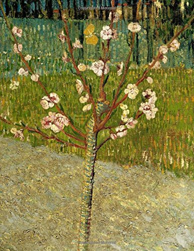 Almond tree in blossom, Vincent van Gogh. Ruled journal: 150 Lined / ruled pages, 8,5x11 inch (21.59 x 27.94 cm) Laminated PDF