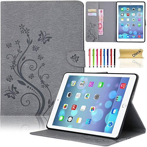 iPad Mini 4 Case, Dteck(TM) Slim Fit Flip PU Leather Cover Magnetic Closure Wallet Stand Cover with Card/Money Slots Protective Skin Tablet Cases for Apple iPad Mini 4 7.9 inch iOS Tablet (03 Gray) (Ipad Mini Protective Skin compare prices)