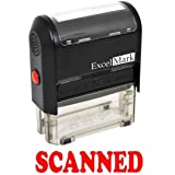 SCANNED Self Inking Rubber Stamp - Red Ink (42A1539WEB-R) (Tamaño: Stamp Only)