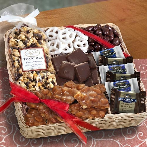 California Chocolate Caramel and Crunch Gift Basket