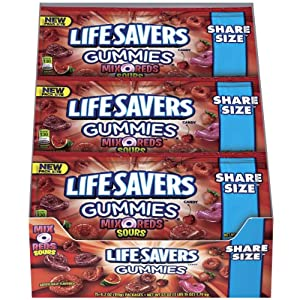 Lifesavers Gummies Candy, Mix-O-Reds, 4.2 Ounce (Pack of 15)