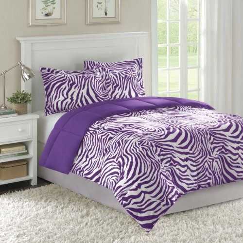 Home Essence Wild Things Bright Zebra Microfiber Down Alternative Comforter Mini Set