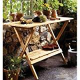 Lawn &amp; Patio - Merry Garden Simple Potting Bench and Console Table