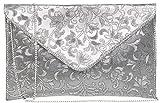 Do Bhai Metalic Women's Clutch (Silver) (Do Bhai Metalic-Silver)
