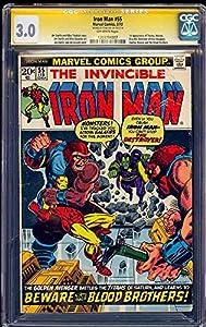 Iron Man # 55 Cgc 3.0 Ss Stan Lee 1st Appearance Of Thanos Cgc # 12033794007