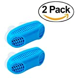 Anti Snore Snoring Devices Aids, 2 Pack 2 in 1 Anti Snore Nose Purifier Snore Stopper Nose Vents Solution Blocker Preventer Relief for Women Men to Stop Snoring Noise Silent Night Sleep (Color: Blue+blue)
