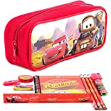 Disney Car Red Pencil Case and Stationery Set