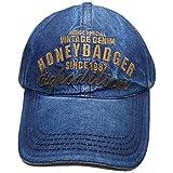 Honeybadger Vintage Denim Baseball Cap
