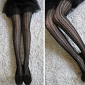 Pantyhose Vertical Striped Soft Lace Shaped Tights Pantyhose : Sports