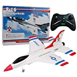 Wffo FX-823 2.4G 2CH RC Airplane Glider Remote Control Plane Outdoor Aircraft (White) (Color: White)