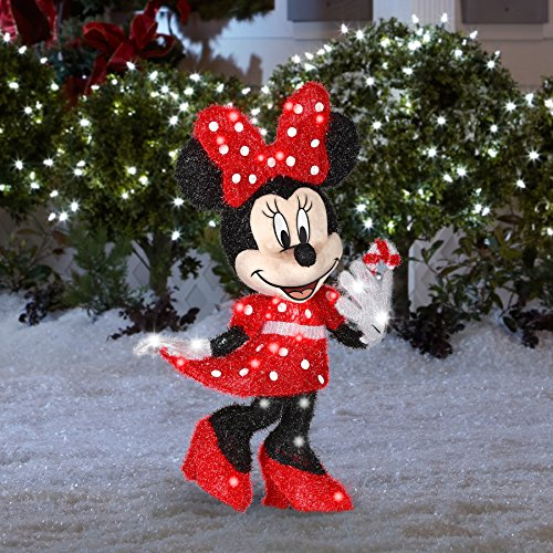 red minnie mouse lighted christmas yard decoration
