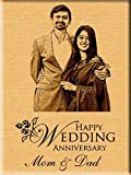 Wedding Anniversary Gift - Engraved Wooden Photo Plaque (5x7), your photo on wood, Unique Personalized Engraved By Canvas Champ