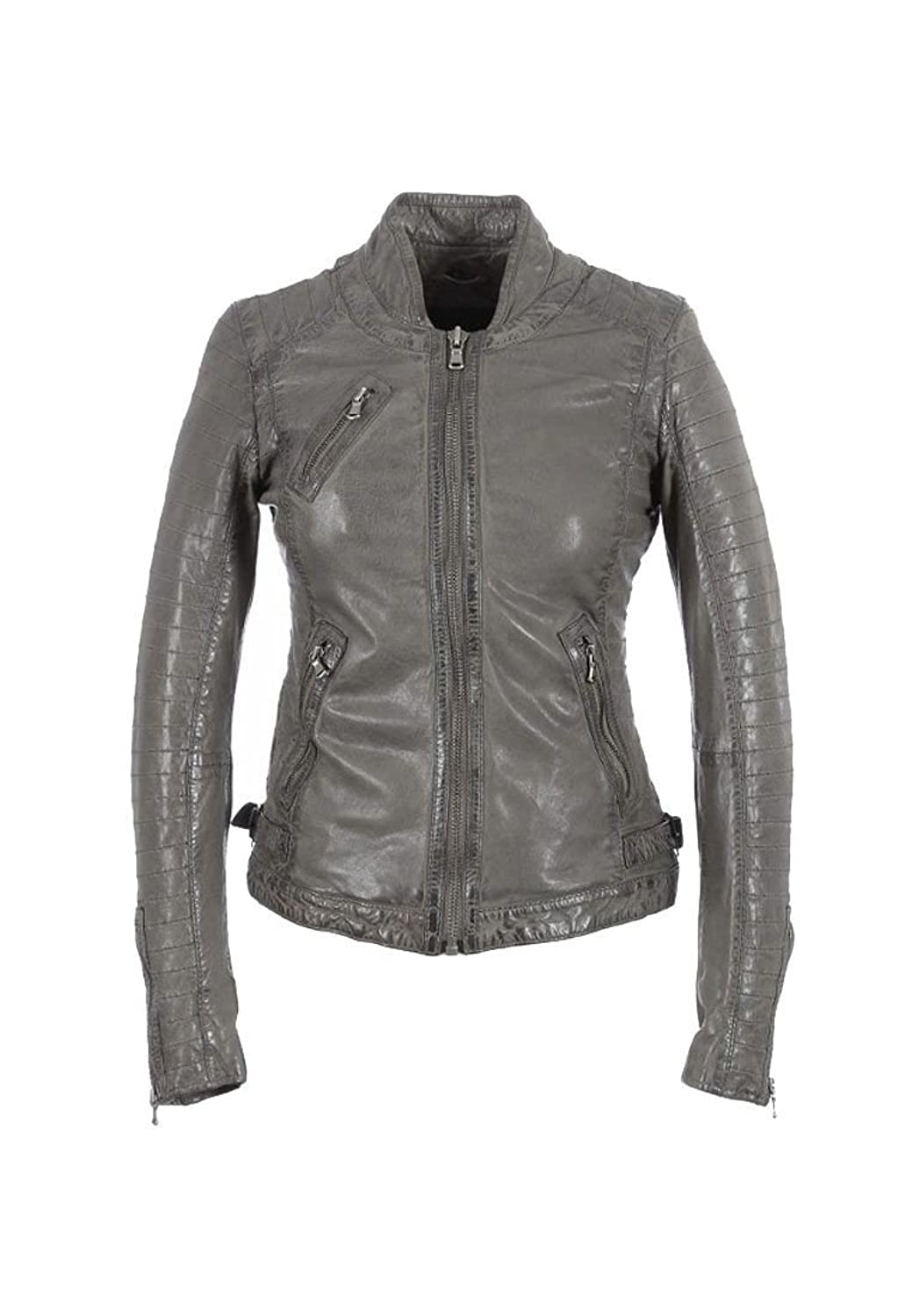 Oakwood Lederjacke Women HALL NEW 61682 Grau günstig