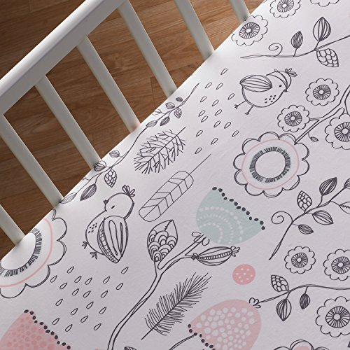 Lolli Living Sparrow Fitted Sheet, Sparrow Print - 1