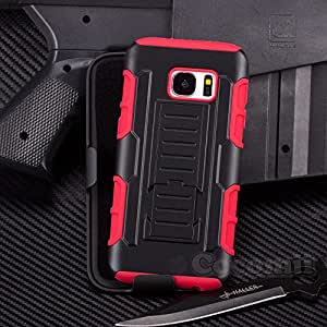 Galaxy S7 Case, Cocomii® [HEAVY DUTY] Robot Case *NEW* [ULTRA FUTURE ARMOR] Premium Belt Clip Holster Kickstand Bumper [MILITARY DEFENDER] Full-body Rugged Dual Layer Cover (Black/Red) ★★★★★