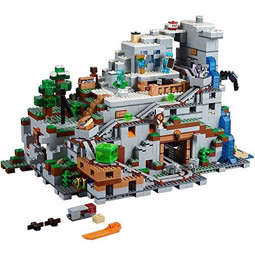 레고 마인크래프트 끝판왕 '마운틴 케이브 21137' 빌딩 키트 (2863 피스) 난이도 최상 LEGO Minecraft The Mountain Cave 21137 Building Kit (2863 Piece)