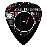 21 Blurryface Guitar Picks Customized Fashion Celluloid Plectrums 12-Pack (Color: Black, Tamaño: ONE SIZE)