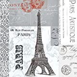 Paperproducts Design 20-Pack Paris Paper Cocktail Napkins