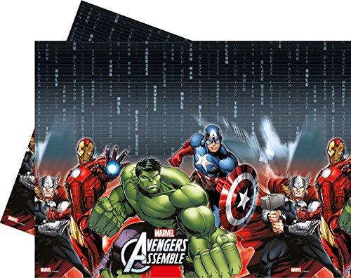 Unique Party - Mantel de plástico para fiestas y cumpleaños de Los Vengadores