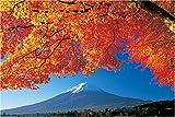 1000ピース 楓紅葉の河口湖湖畔から富士山 10-483