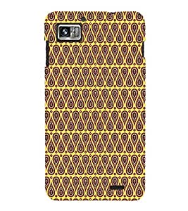 Fuson Premium Ethnic Design Printed Hard Plastic Back Case Cover for Lenovo S860
