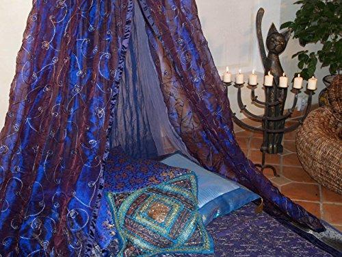 Moskitonetz-1001-Nacht-blau-Moskitonetze-Betthimmel