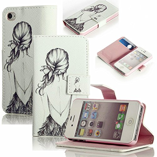 Mylife (Tm) Lavender Pink And White Ballerina - Glamorous Design - Textured Koskin Faux Leather (Card And Id Holder + Magnetic Detachable Closing) Slim Wallet For Iphone 5/5S (5G) 5Th Generation Itouch Smartphone By Apple (External Rugged Synthetic Leathe