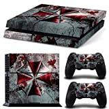FriendlyTomato PS4 Console and DualShock 4 Controller Skin Set - Umbrella Zombie Videogame - PlayStation 4 Vinyl