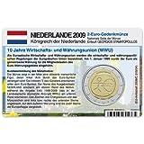 Münzkarte für 2-Euro Gemeinschaftsmünze Niederlande 2009 - 10 Jahre WWU