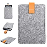 Inateck-Funda de Fieltro para Amazon Nuevo Kindle Paperwhite 2015 300 PPI 3rd Gen/ 2014/ 2013/ 2012 y Kindle Fire HD 6, Color: Gris