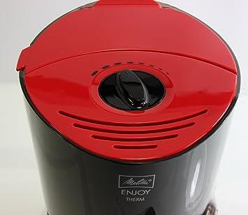 melitta 100208 bk rd enjoy therm kaffeefiltermaschine thermoskanne aromaselector rot schwarz. Black Bedroom Furniture Sets. Home Design Ideas