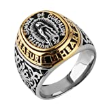 HZMAN Jewelry Men's Blessed Mother Mary - Our Lady of Guadalupe Stainless Steel Ring (7)