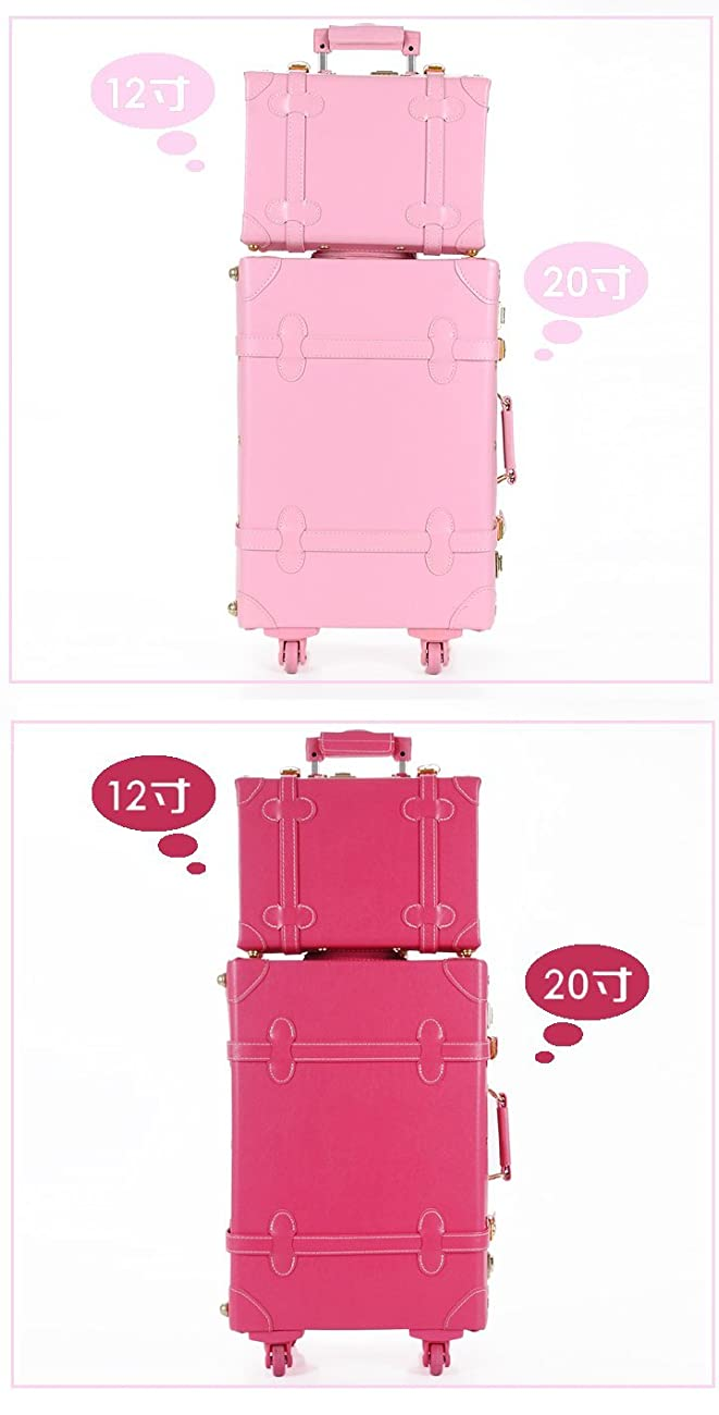 DPIST® Luggage Sets On Sale Vintage & Retro Style Carry-On Trolley Luggage and Cosmetic Tote Bag Set 1