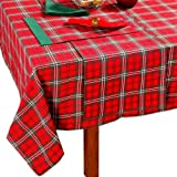 100% Cotton Christmas Prince Edward Tartan Tablecloth, 54 x 90
